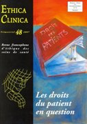 Les droits du patient en question